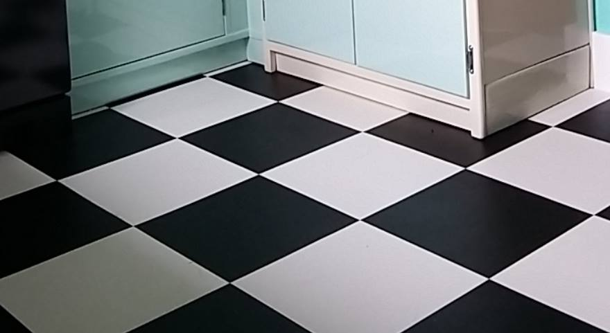 Black & White Checkerboard Floor - Local To You
